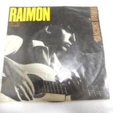 Discos de vinilo: SINGLE. RAIMON. CANÇONS D'AMOR. 1965. EDIGSA. Lote 174068237