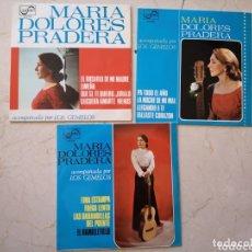 Discos de vinilo: 3 SINGLES VINILO DE MARIA DOLORES PRADERA. Lote 174075395