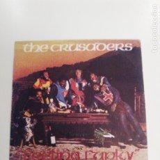 Discos de vinilo: THE CRUSADERS FEELING FUNKY / TIL THE SUN SHINES ( 1976 BLUE THUMB MEDITERRANEO ESPAÑA ). Lote 174084935