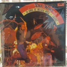 Discos de vinilo: THE WHO - 30 AÑOS DE MUSICA ROCK - LP NUEVO SIN USAR. Lote 174096624