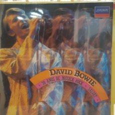 Discos de vinilo: DAVID BOWIE - 30 AÑOS DE MUSICA ROCK - LP NUEVO NUNCA USADO. Lote 174097369