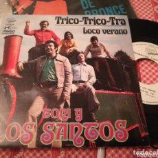 Discos de vinilo: TONI Y LOS SANTOS SINGLE PROMOCIONAL TRICO-TRICO-TRA 1973. Lote 174106573