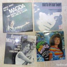 Discos de vinilo: MUSICA CATALANA SOLISTAS YE YE 4 DISCOS EN OFERTA COLECCIONISTAS. Lote 174133804