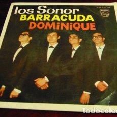 Discos de vinilo: LOS SONOR - DOMINIQUE + 3 - EP 1964. Lote 174149699