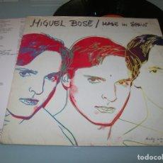 Discos de vinilo: MIGUEL BOSE - MADE IN SPAIN . LP DE CBS 1983 - S 25496 + LETRAS - ANDY WARHOL 1ª EDICION. Lote 174156465