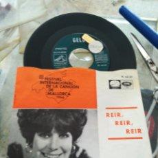 Discos de vinilo: GELU SINGLE REÍR, REÍR, REÍR 1966. Lote 174165574