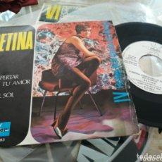 Discos de vinilo: BETINA SINGLE PROMOCIONAL EL DESPERTAR DE TU AMOR 1969. Lote 174167173