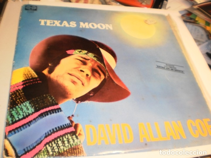 LP DAVID ALLAN COE. TEXAS MOON. CHARLY RECORDS 1980 SPAIN (PROBADO Y BIEN) (Música - Discos - LP Vinilo - Pop - Rock - New Wave Extranjero de los 80)