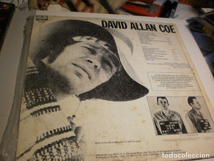 Discos de vinilo: lp david allan coe. texas moon. charly records 1980 spain (probado y bien) - Foto 2 - 174168145
