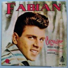 Disques de vinyle: FABIAN CAZADOR HOUND DOG MAN MUNDO AMABLE FRIENDLY WORLD CRECIENDO SENCILLO HELIODOR HISPAVOX 1960. Lote 174168959