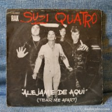 Discos de vinilo: SUZI QUATRO - ALÉJAME DE AQUI (TEAR ME APART) + SAME AS I DO - SINGLE RAK SPAIN AÑO 1977. Lote 174178729
