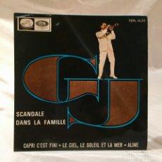 Discos de vinilo: GEORGES JOUVIN VINILO 45 RPM SCANDALE DANS LA FAMILLE. Lote 174188099