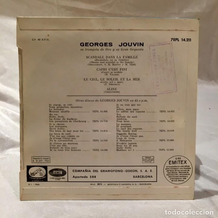 Discos de vinilo: Georges Jouvin vinilo 45 rpm Scandale dans la famille - Foto 3 - 174188099