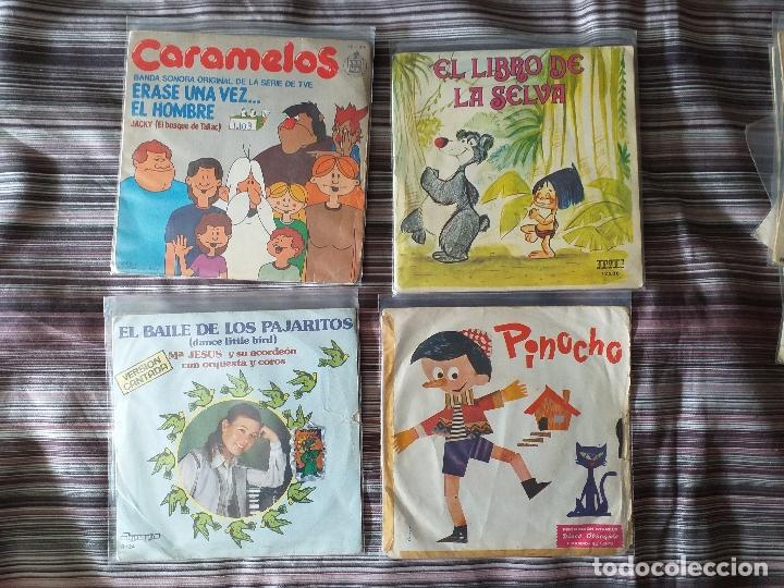 Discos de vinilo: LOTE COLECCIÓN 23 CUENTOS VINILO EP 45 RPM WALT DISNEY PATITO FEO PINOCHO PITUFOS VER FOTOS - Foto 2 - 174188387
