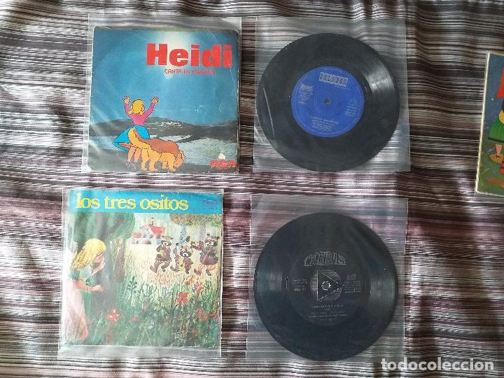 Discos de vinilo: LOTE COLECCIÓN 23 CUENTOS VINILO EP 45 RPM WALT DISNEY PATITO FEO PINOCHO PITUFOS VER FOTOS - Foto 6 - 174188387