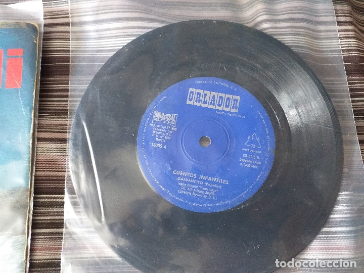 Discos de vinilo: LOTE COLECCIÓN 23 CUENTOS VINILO EP 45 RPM WALT DISNEY PATITO FEO PINOCHO PITUFOS VER FOTOS - Foto 7 - 174188387