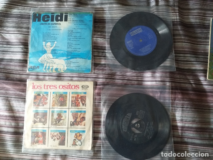 Discos de vinilo: LOTE COLECCIÓN 23 CUENTOS VINILO EP 45 RPM WALT DISNEY PATITO FEO PINOCHO PITUFOS VER FOTOS - Foto 9 - 174188387