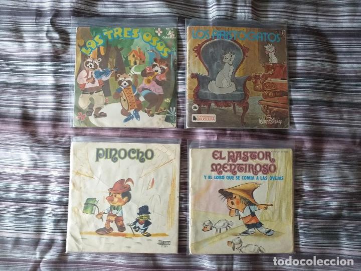 Discos de vinilo: LOTE COLECCIÓN 23 CUENTOS VINILO EP 45 RPM WALT DISNEY PATITO FEO PINOCHO PITUFOS VER FOTOS - Foto 14 - 174188387