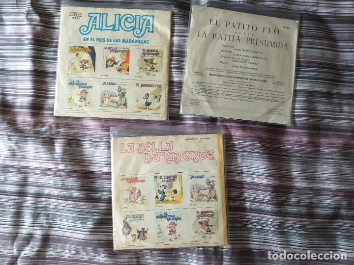 Discos de vinilo: LOTE COLECCIÓN 23 CUENTOS VINILO EP 45 RPM WALT DISNEY PATITO FEO PINOCHO PITUFOS VER FOTOS - Foto 17 - 174188387