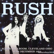 Discos de vinilo: RUSH * LP 180G. VINILO COLOR * AGORA BALLROOM CLEVELAND, OHIO 16/12/1974* PRECINTADO * POCAS COPIAS. Lote 181022987