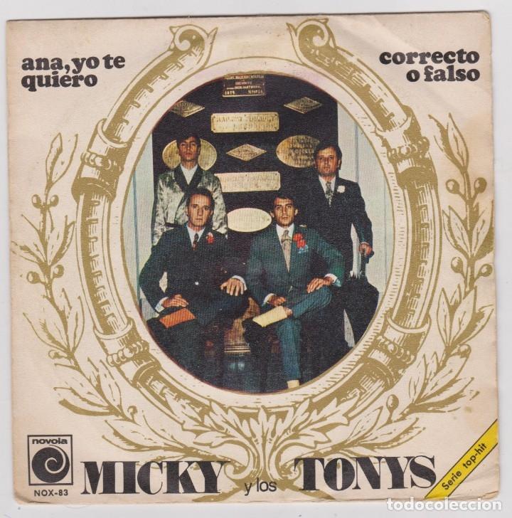 MICKY Y LOS TONYS -- AÑO 1968 -- ANA, YO TE QUIERO (Música - Discos de Vinilo - EPs - Grupos Españoles 50 y 60)