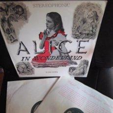 Discos de vinilo: BEATLES PAUL MCCARTNEY JANE ASHER ALICIA EN EL PAIS DE LAS MARAVILLAS DOBLE LP NARRADO CURIOSIDAD. Lote 174223875