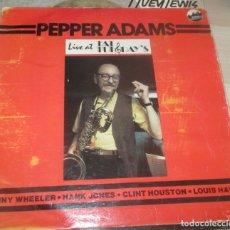 Discos de vinilo: PEPPER ADAMS ?– LIVE AT FAT TUESDAY'S - LP 1984. Lote 174236210