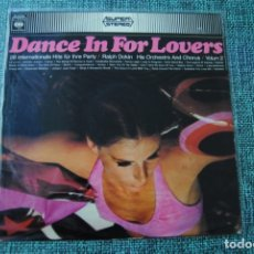 Discos de vinilo: DANCE FOR LOVERS CBS 1968. Lote 174244268