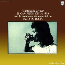 Discos de vinilo: LP CAMARON Y PACO DE LUCIA CASTILLO DE ARENA VINILO COLOR REMASTERIZADO FLAMENCO. Lote 174245638