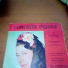 Discos de vinilo: CONCHITA PIQUER. CINCO FAROLAS. TU ROPITA CON LA MIA. AY HERMANO, AY HERMANO. MB3. Lote 174256017