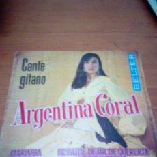 Discos de vinilo: ARGENTINA CORAL. CANTE GITANO. MARINGA. AY LOCA. ES INUTIL DEJAR DE QUERERTE. .. MB3. Lote 174256350