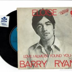 Discos de vinilo: BARRY RYAN / ELOISE / LOVE, I ALMOST FOUND YOU / MGM / 61025. Lote 174260989