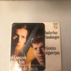 Discos de vinilo: EL CAMARÓN DE LA ISLA - BULERÍAS FANDANGOS - TIENTOS SIGUIRIYAS. Lote 174271525