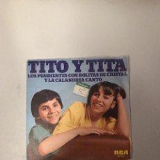 Discos de vinilo: TITO Y TITA. Lote 174276759