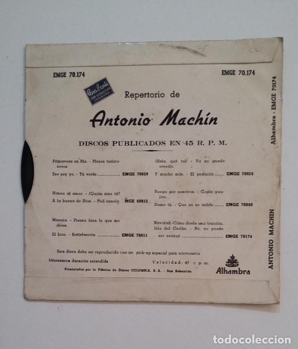 Discos de vinilo: ANTONIO MACHIN Y SU ORQUESTA. - ISLA DEL CARIBE. TDKDS14 - Foto 2 - 174291669