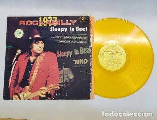 SLEEPY LA BEEF - BEEFY ROCKABILLY 77, LIMT EDT USA 20 TEMAS, SUN RECORDS, VINILO DORADO, COLLECTORS (Música - Discos - LP Vinilo - Rock & Roll)