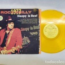 Discos de vinilo: SLEEPY LA BEEF - BEEFY ROCKABILLY 77, LIMT EDT USA 20 TEMAS, SUN RECORDS, VINILO DORADO, COLLECTORS. Lote 174295665