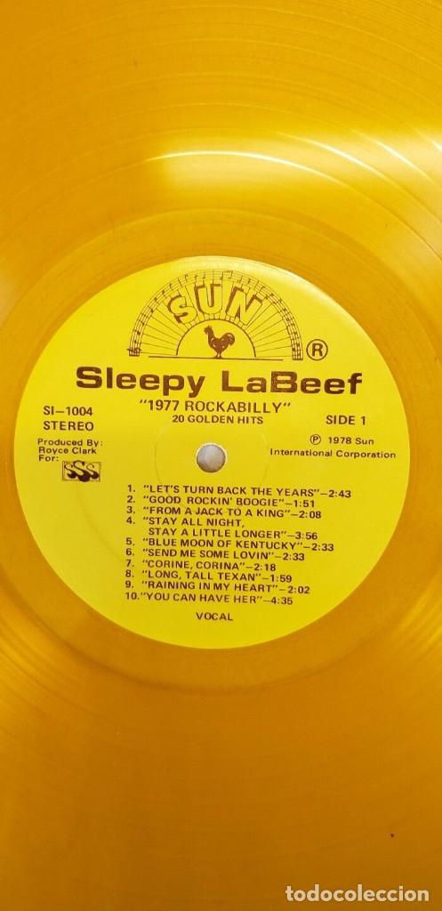Discos de vinilo: sleepy la beef - Beefy Rockabilly 77, LIMT EDT USA 20 TEMAS, SUN RECORDS, VINILO DORADO, COLLECTORS - Foto 2 - 174295665