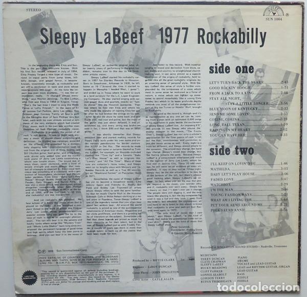 Discos de vinilo: sleepy la beef - Beefy Rockabilly 77, LIMT EDT USA 20 TEMAS, SUN RECORDS, VINILO DORADO, COLLECTORS - Foto 3 - 174295665