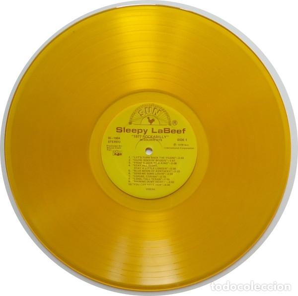 Discos de vinilo: sleepy la beef - Beefy Rockabilly 77, LIMT EDT USA 20 TEMAS, SUN RECORDS, VINILO DORADO, COLLECTORS - Foto 4 - 174295665