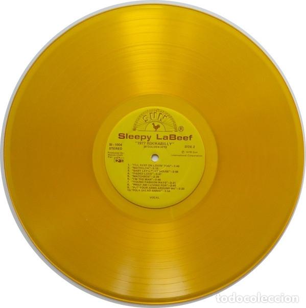 Discos de vinilo: sleepy la beef - Beefy Rockabilly 77, LIMT EDT USA 20 TEMAS, SUN RECORDS, VINILO DORADO, COLLECTORS - Foto 5 - 174295665