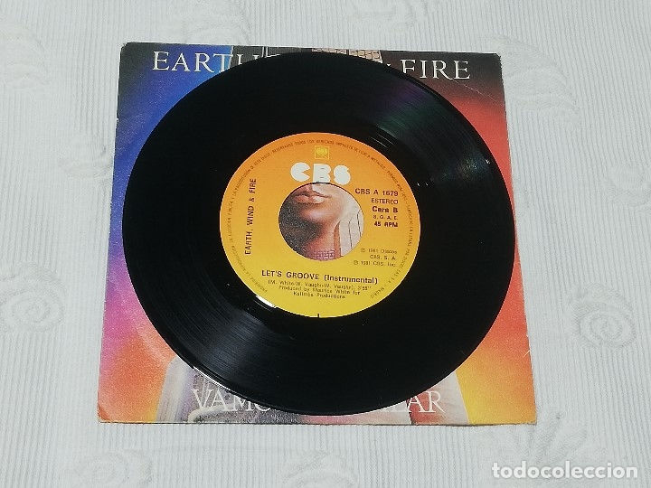 Discos de vinilo: SINGLE: EARTH, WIND & FIRE · let's groove (vamos a vacilar) - Cbs, 1981 - - Foto 4 - 174307474