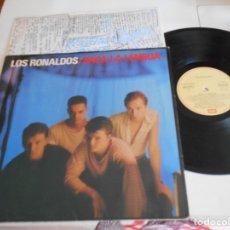 Discos de vinilo: LOS RONALDOS-LP SACA LA LENGUA-ENCARTE LETRAS. Lote 174321000