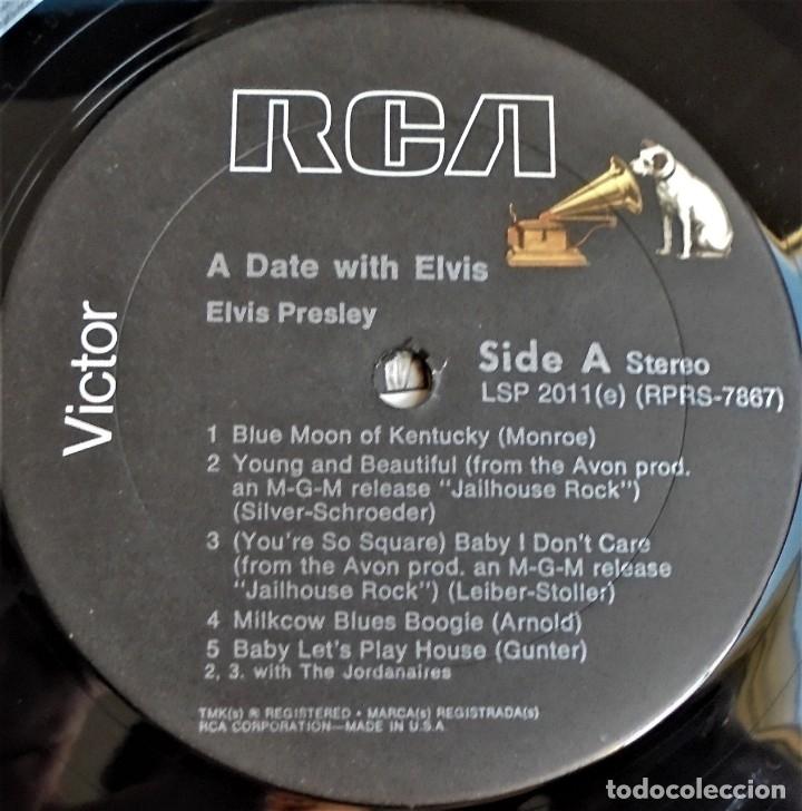 Discos de vinilo: A DATE WITH ELVIS - RCA VICTOR LSP-2011 - EDITADO EN USA (ELVIS PRESLEY) - Foto 5 - 174330512