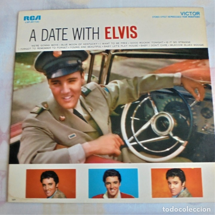 A DATE WITH ELVIS - RCA VICTOR LSP-2011 - EDITADO EN USA (ELVIS PRESLEY) (Música - Discos - LP Vinilo - Rock & Roll)