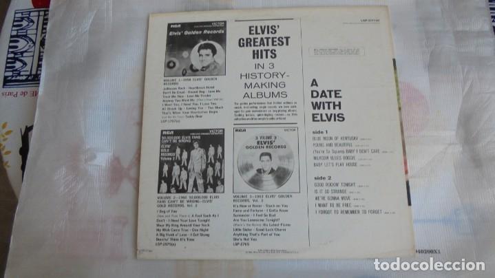 Discos de vinilo: A DATE WITH ELVIS - RCA VICTOR LSP-2011 - EDITADO EN USA (ELVIS PRESLEY) - Foto 2 - 174330512