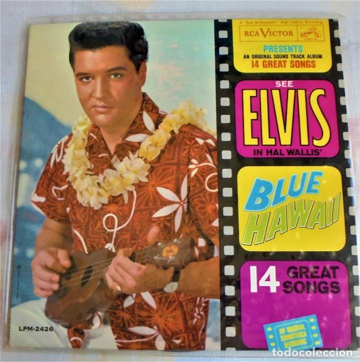 ELVIS PRESLEY / LP / BLUE HAWAII- LMP -2246 - 1ªED.USA 1961 MONO / (Música - Discos - LP Vinilo - Bandas Sonoras y Música de Actores )