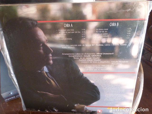 Discos de vinilo: JOSEP CARRERAS - ET PORTARE UNA ROSA - ZAFIRO - 1987 - Foto 2 - 174360294