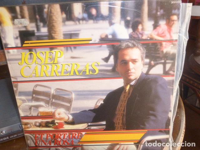 JOSEP CARRERAS - ET PORTARE UNA ROSA - ZAFIRO - 1987 (Música - Discos - LP Vinilo - Cantautores Españoles)