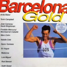Discos de vinilo: LP BARCELONA GOLD, RECOPILATORIO. 1992, WARNER BROS. RECORDS– 9362-45046-1,MUY BUEN ESTADO(VG+_VG+). Lote 174365169